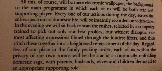jg ballard In 1977 JG Ballard predicted the dawn of social media in Vogue in 1977