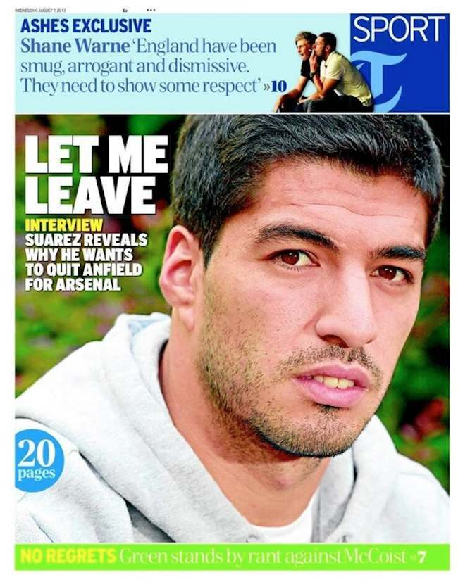 suarez Transfer Balls: Luis Suarez says Liverpool told him he could leave for Arsenal this summer