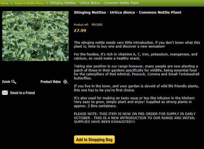 weed sales Essex garden centre sells out of weed