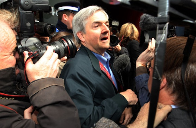 Former Cabinet minister and Eastleigh MP Chris Huhne faces the media on his release from prison which he described as a humbling and sobering experience in Clerkenwell, London.