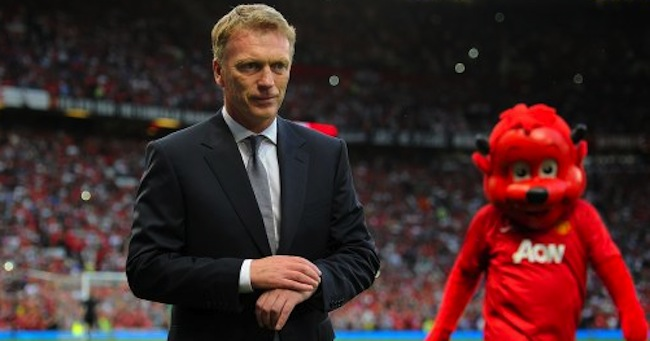 Manchester United manager David Moyes prior to kick-off