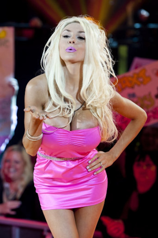 Courtney Stodden is evicted from the Big Brother house at Elstree Studios in Hertfordshire