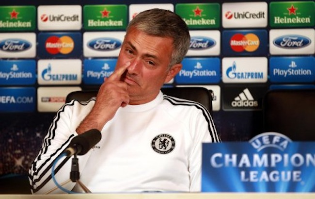 Chelsea manager Jose Mourinho during a press conference at Cobham Training Ground, Stoke D'Abernon.