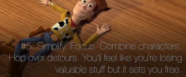 22 rules of story telling pixar 4