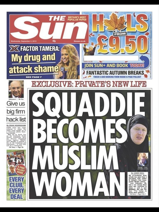 LsBTzfm The truth about the Squaddie who became a Muslim woman