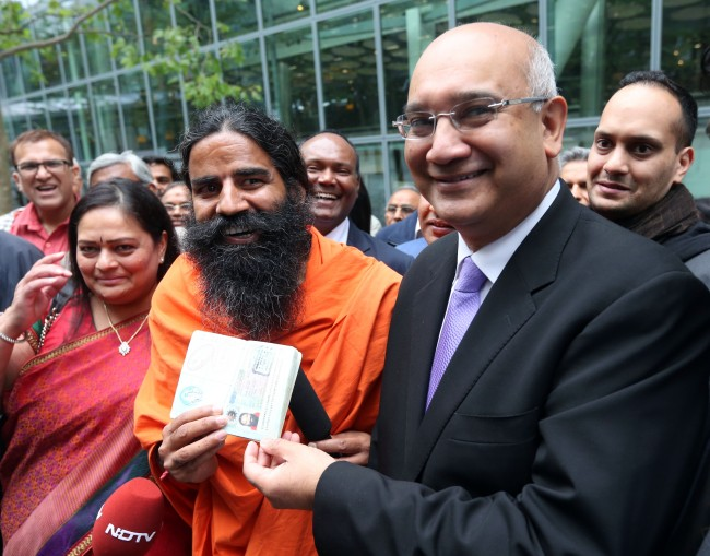 PA 17674463 Baba Ramdev: Keith Vaz supports Indias celebrity swami who says gays are a sickness to be cured by yoga