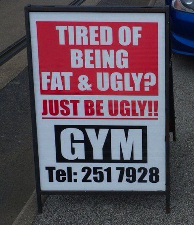 best gym ad of the day