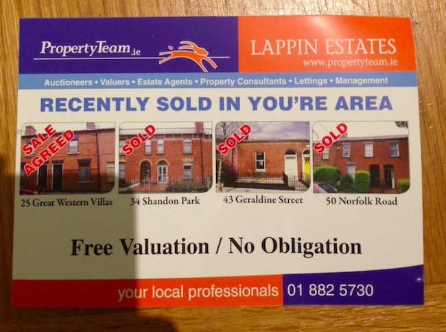 dublin esate agents Typo of the day: You're Local Professionals in Dublin