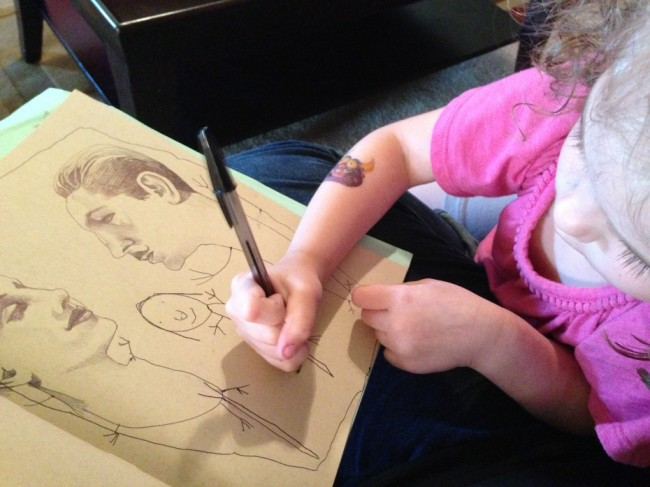 img 5499 Mother persuaded to let her 4 year old finish her drawings reveals the great results