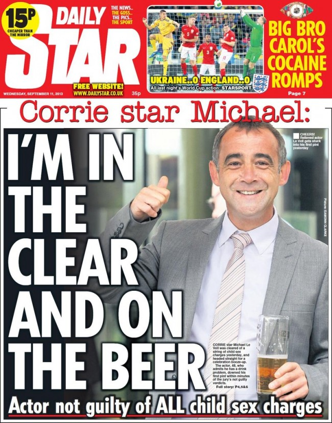 michael le vells rhymes 1 Michael Le Vell is a victim of the State sponsored assault on adults