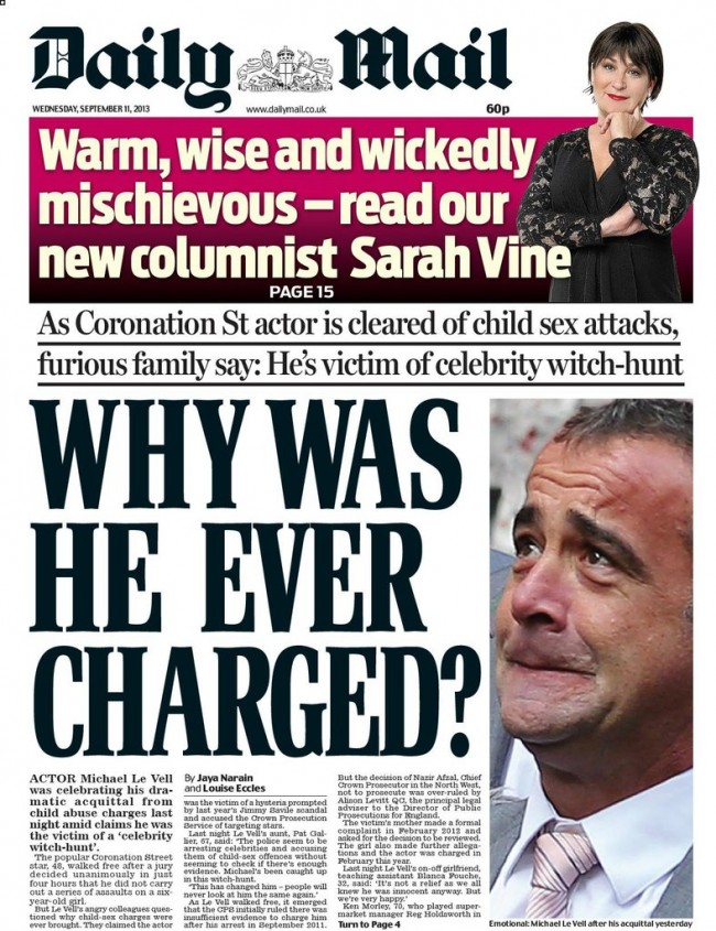 michael le vells rhymes 2 Michael Le Vell is a victim of the State sponsored assault on adults