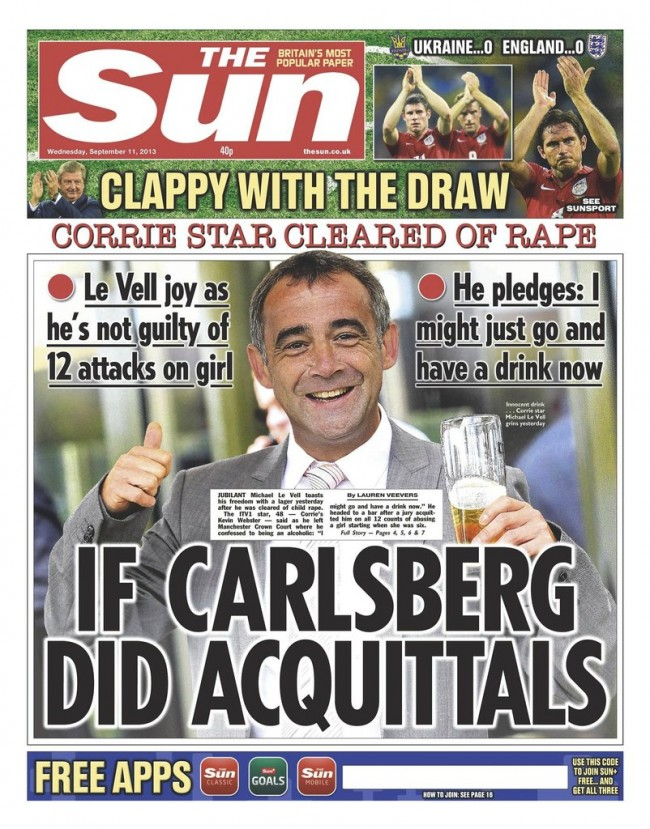 michael le vells rhymes 4 Michael Le Vell is a victim of the State sponsored assault on adults