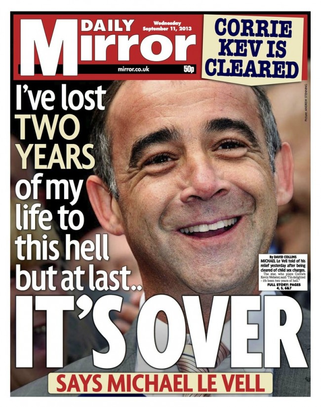 michael le vells rhymes Michael Le Vell is a victim of the State sponsored assault on adults