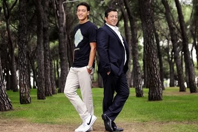 ozil and dad