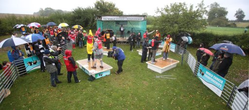 Competitors take part in the World Conker Championships at the Shuckburgh Arms in Southwick Northamptonshire.