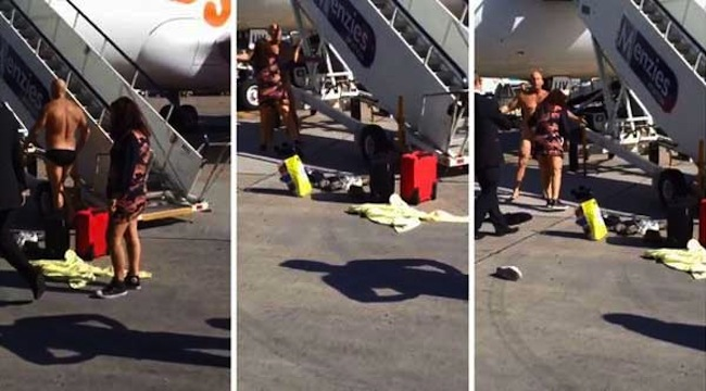Easyjet stripper Naked easyJet passenger who challenged captain to a fight tasered at Manchester airport