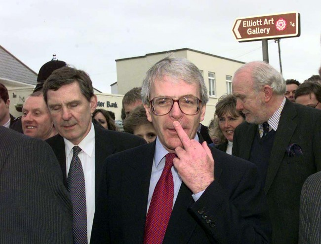 PA 1039486 John Major Backs The EU And Appraises His Former Tory Colleagues