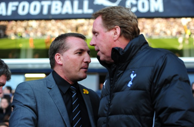 PA 13206221 Harry Redknapp newsflash: Liverpools Brendan Rodgers is as English as Fabio Capello