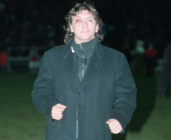 14-FEB-96 ... Grimsby v West Ham .... Grimsby's controversial Ivano Bonetti pictured before the game