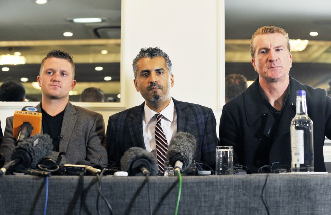 PA 17856354 Tommy Robinson leaves the EDL but finds Pamela Geller harder to quit