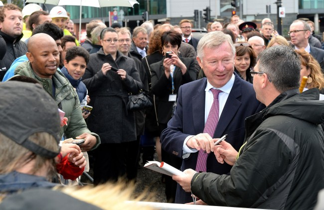 PA 17904519 Sir Alex Ferguson Way: the opening of Manchester Uniteds trail of silver, tears and vitriol