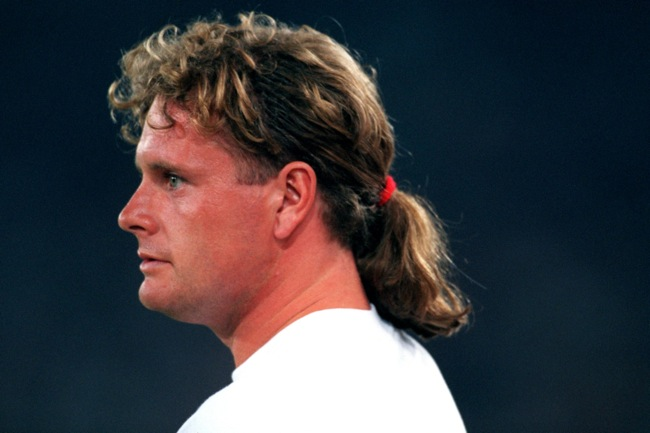 Paul Gascoigne, Lazio, with a pony tail