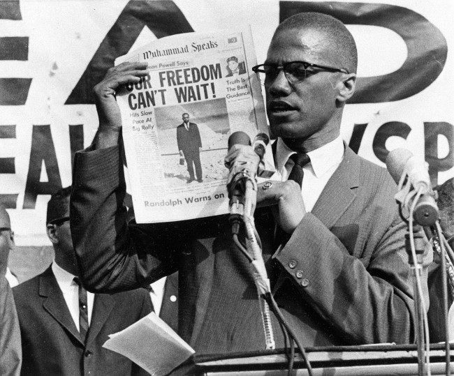 PA 8635494 1964: Malcolm X evokes Shakespear as he thrills the Oxford Union with talk of armed rebellion