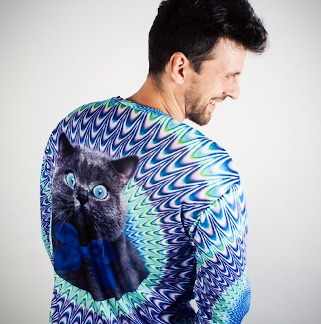 PSYCHEDELIC CAT SWEATER 1