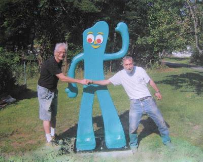 Stolen Gumby statue