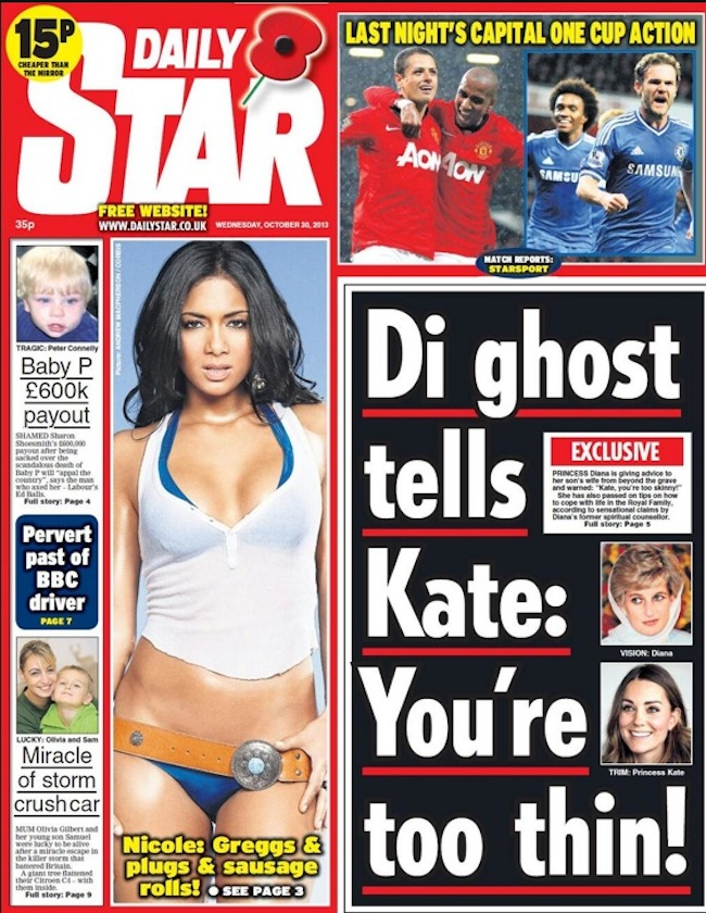 diana ghost Princess Dianas Ghost Tells Kate: Youre Too Thin