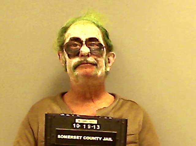 mug shot Mug Shot: Smiling Man Arrested In Halloween Make Up