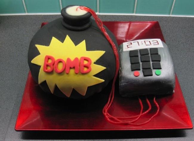 wedding cake bomb