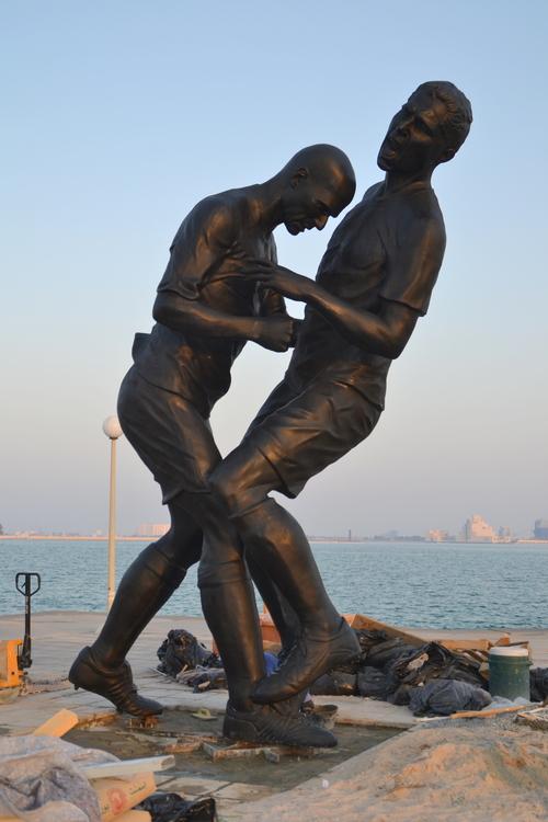 zidane statue qatar