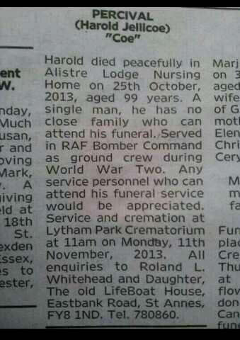 BYp1JdNIAAAkVLQ Lucky Harold Percivals Funeral In Photos