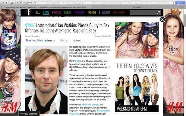 E Ian Watkins Not Ian H Watkins: The Internet Gets Confused
