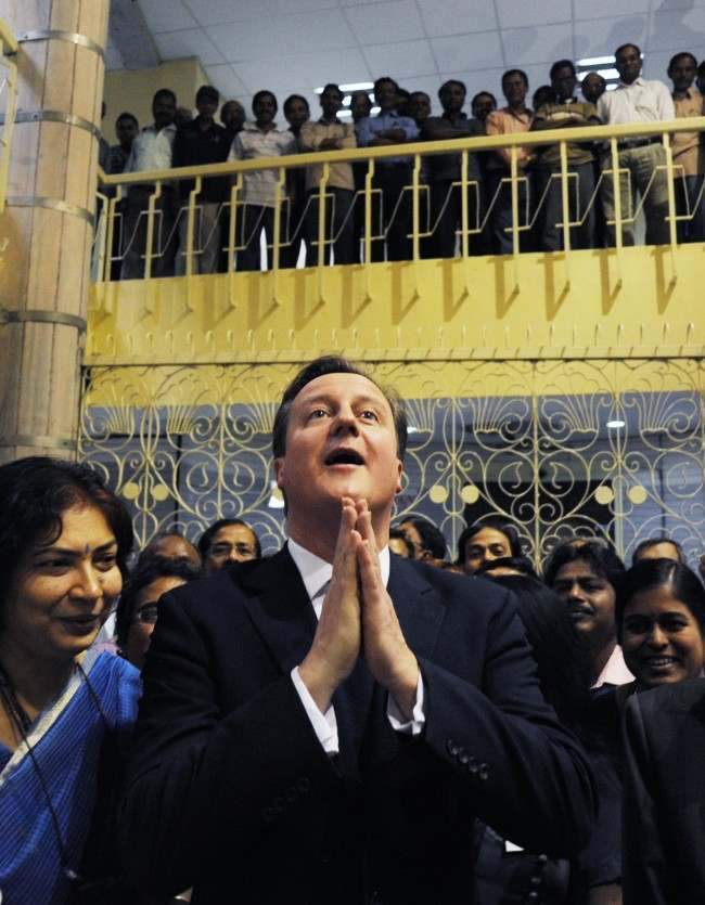 PA 18203496 Caption Challenge: David Cameron In India