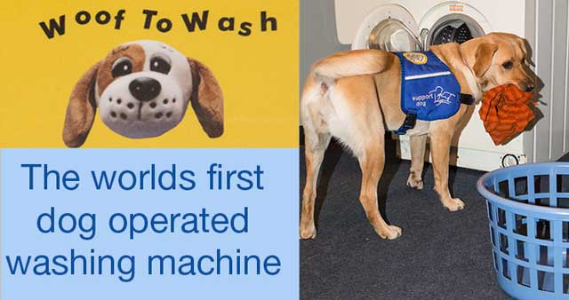 Woof to wash Woof To Wash: The Wonderful Dog Operated Washing Machine