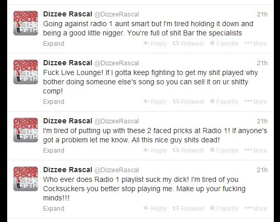 dizz1 Dizzee Rascal Goes Nutso Against Radio 1