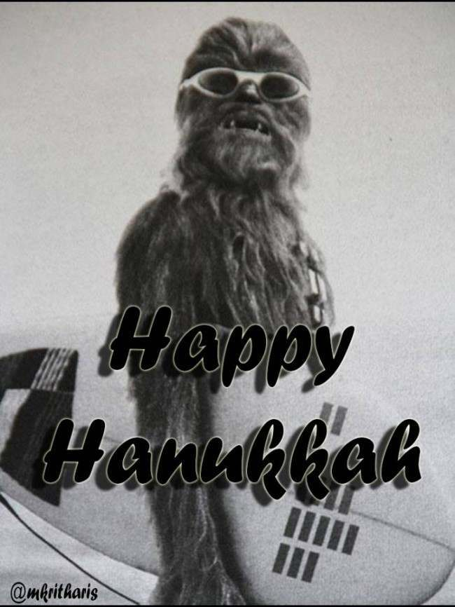 happy hannukah Happy Hanukkah From Chewbanukka