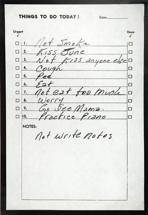 johnnycash 10 things To Do Lists: Why Johnny Cash, Benjamin Franklin And The Rest of Us Make Them