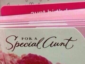 special aunt card