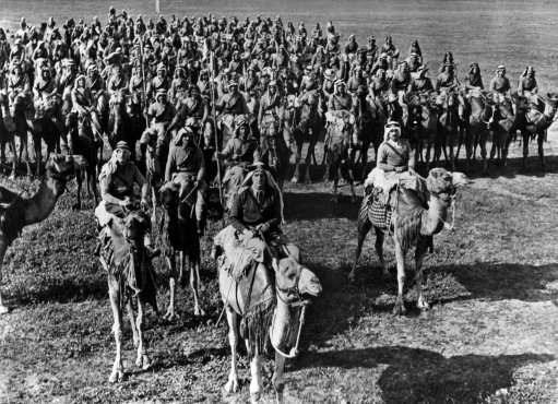 The GOC Palestine visited the famous Druse-Regiment which is recruited from Druses of the Djebel Druse and other parts of the Middle East. Some are mounted on camels, others on horses. All are keen warriors and they form a useful and picturesque addition to the Allied forces. A camel group marching past the G.O.C on March 2, 1940. They made a wonderful picture, armed to the teeth and mounted on their fine beasts. (AP Photo)