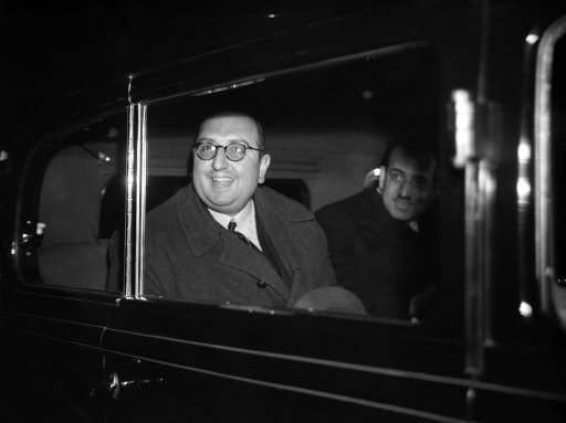 Some of the Arab delegates to attend the forthcoming Palestine conference in London arrived at Waterloo. Prince Abdul Monheim, smiling as he drove away from Waterloo on his arrival in London on Jan. 26, 1939