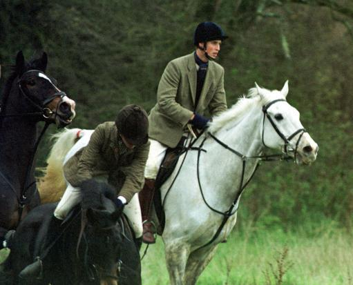 Prince William during the Beaufort Hunt