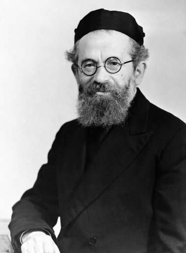 Rabbi Isaac Hertzog of Dublin arrived in Haifa, Palestine, Israel on Jan. 15, 1937, to take up his duties as Chief Rabbi of Palestine. He succeeds Chief Rabbi Kook, who died 16 months ago.