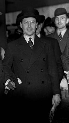 Malcolm MacDonald, son of Prime Minister Ramsay MacDonald and Secretary of State for Dominion Affairs from 1935 - 1938. MacDonald later became Secretary of State for the Colonies. In 1939 MacDonald oversaw and introduced the so-called MacDonald White Paper, which aimed at the creation of a unified state, with controls on Jewish immigration