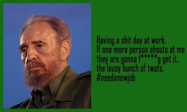 Fidel Castro 21 Facebook Status Updates Made Into Inspirational Quotes