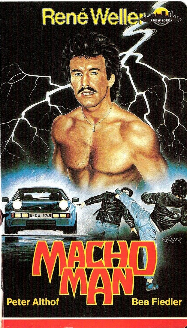 MACHO MAN 10 Wonderfully Insane VHS Action Movie Covers