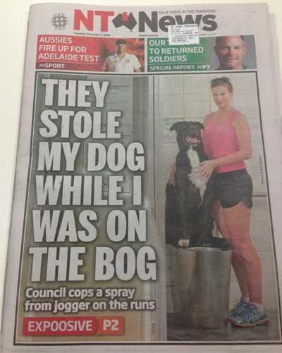 NT news dog