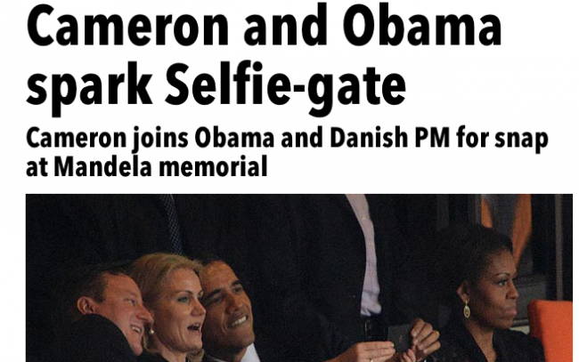 Screen shot 2013 12 11 at 06.59.10 Mandela Selfie Gate Photos: Michelle Obama Makes Helle Freeze Over